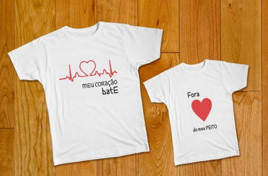 Camisetas Com Frases Divertidas E Criativas Para Mãe E Filha Tal