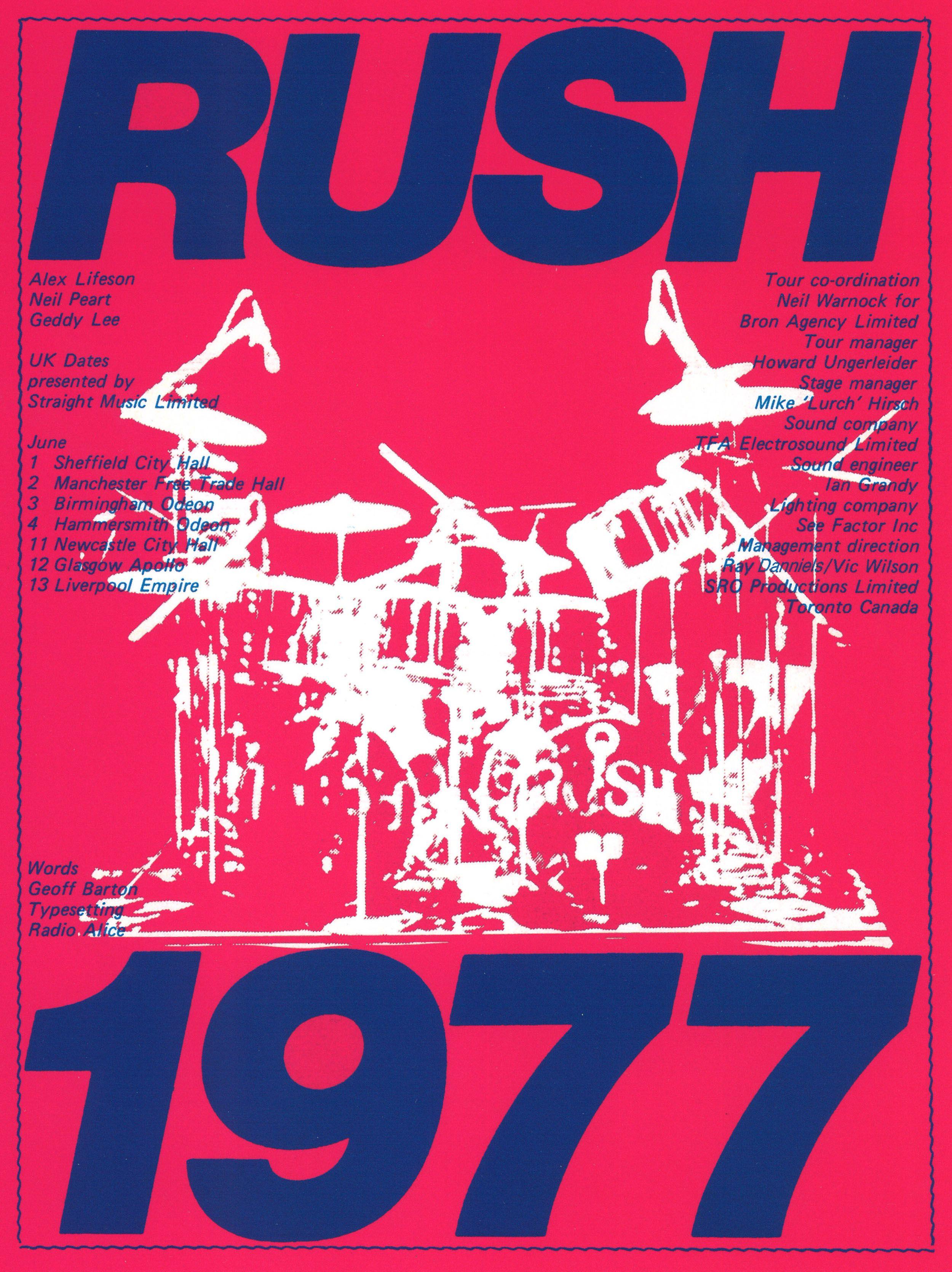 Rush: 2112 Tour Book