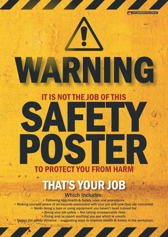 Safety starts with you! Safety posters, Health and