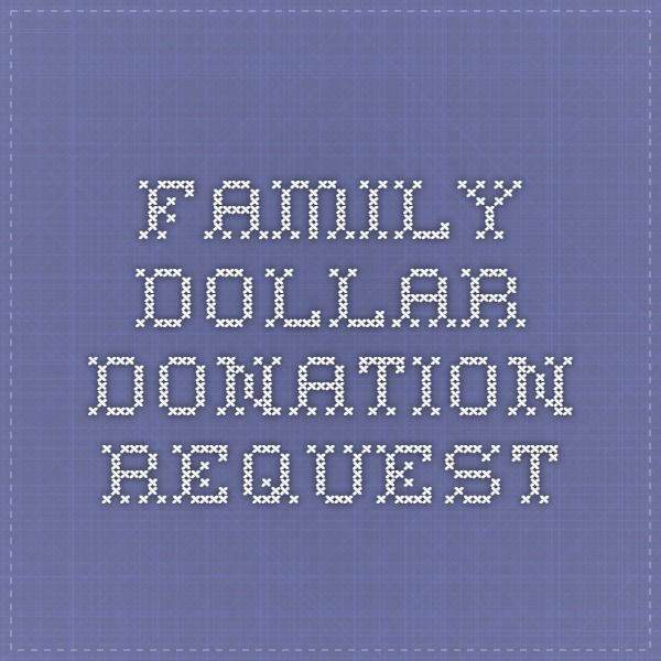 family dollar donation request | trunk or treat | Donation request