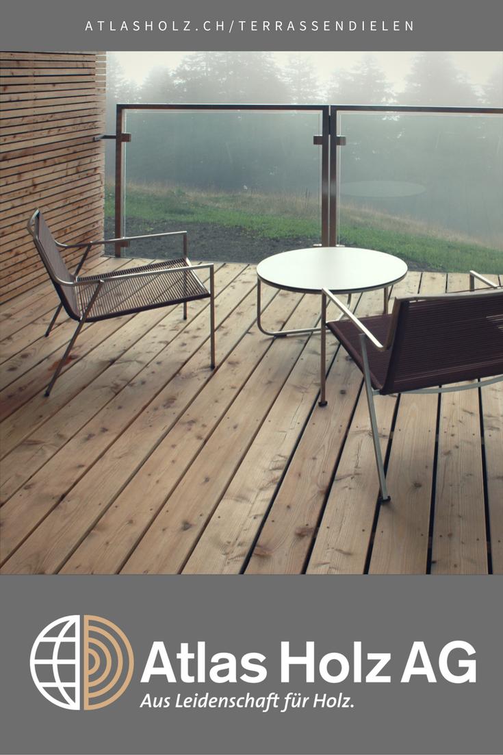 Terrassendielen Aus Holz In Lärche Glatt Mit Sichtbarer