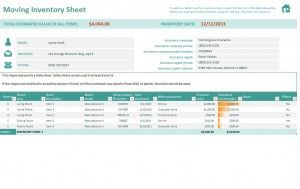 Free Moving Inventory Sheet Excel Template HttpMyexceltemplates