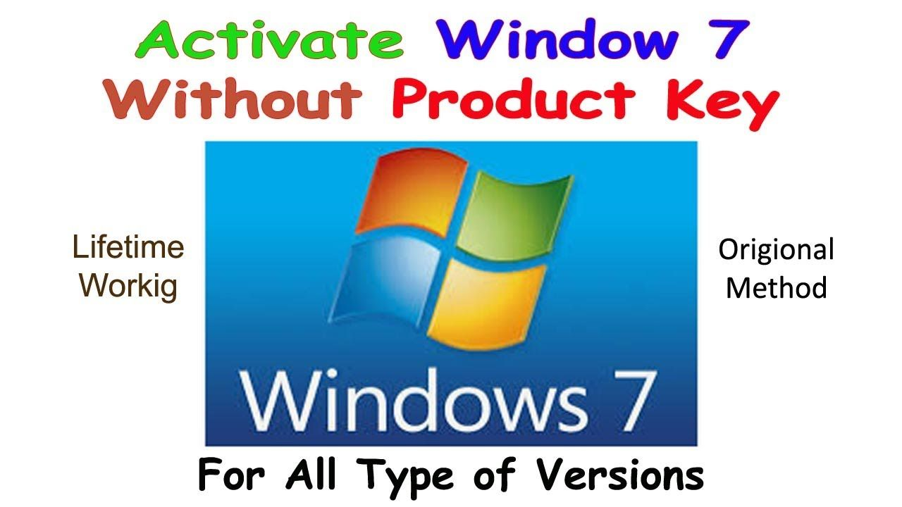 How To Activate Windows 7 Make Windows Genuine Without Any Product Ke Youtube Activated I Will Show You
