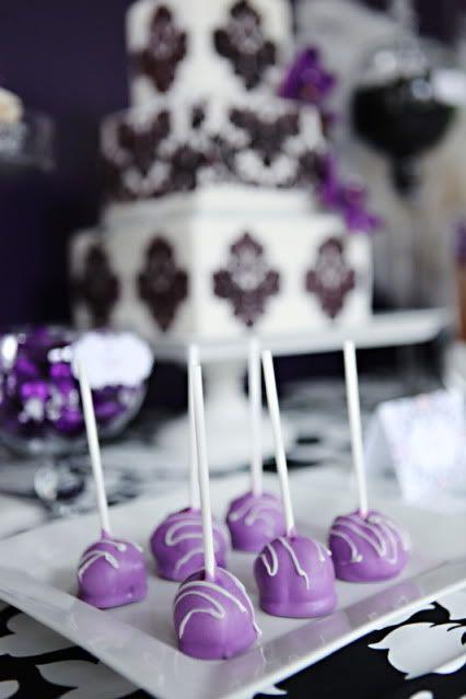 Purple cake pops. shower??@Kami Bremyer Bremyer Bremyer Bremyer Sherman Tromotola