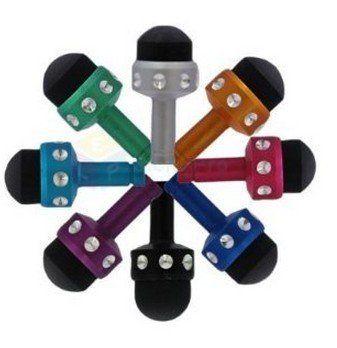 3.5mm Mini 2in1 Anti-dust Earphone Jack Stylus/styli Touch Pen/plug for Iphone 3gs/4/4s Ipad 2 3 ,Samsung,htc(8pcs)