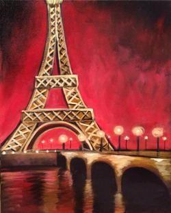 Golden Eiffel Tower Graffiti Paintbar - 2 Cellu Drive ...