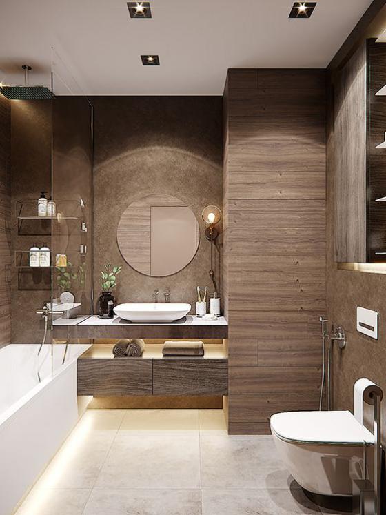Photo of Ein Badezimmer in Braun ist voller Wärme, Luxus und Stil – Fresh Ideen für das Interieur, Dekoration und Landschaft