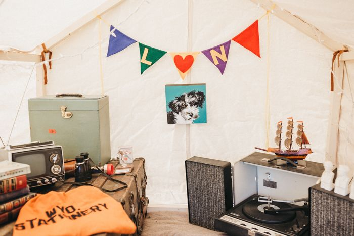 How fun is this tent?    Image by Jason Lucas Photography