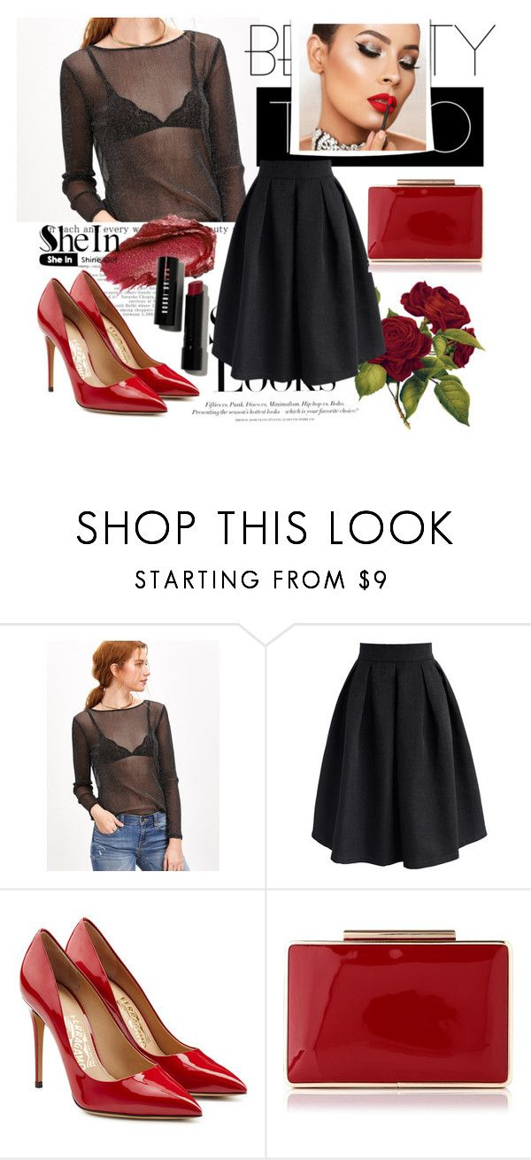 """""""SheIn Sparkle Top"""" by sanya-marc ❤ liked on Polyvore featuring H&M, Urban Decay, Chicwish and Salvatore Ferragamo"""