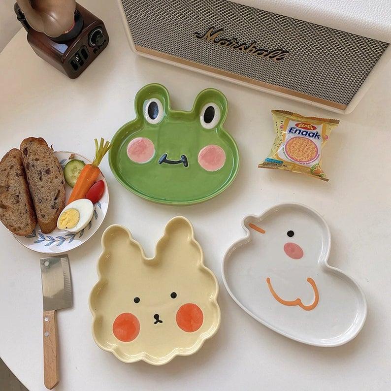 Kawaii Plates - Decorative Animal Frog Ceramic Pla