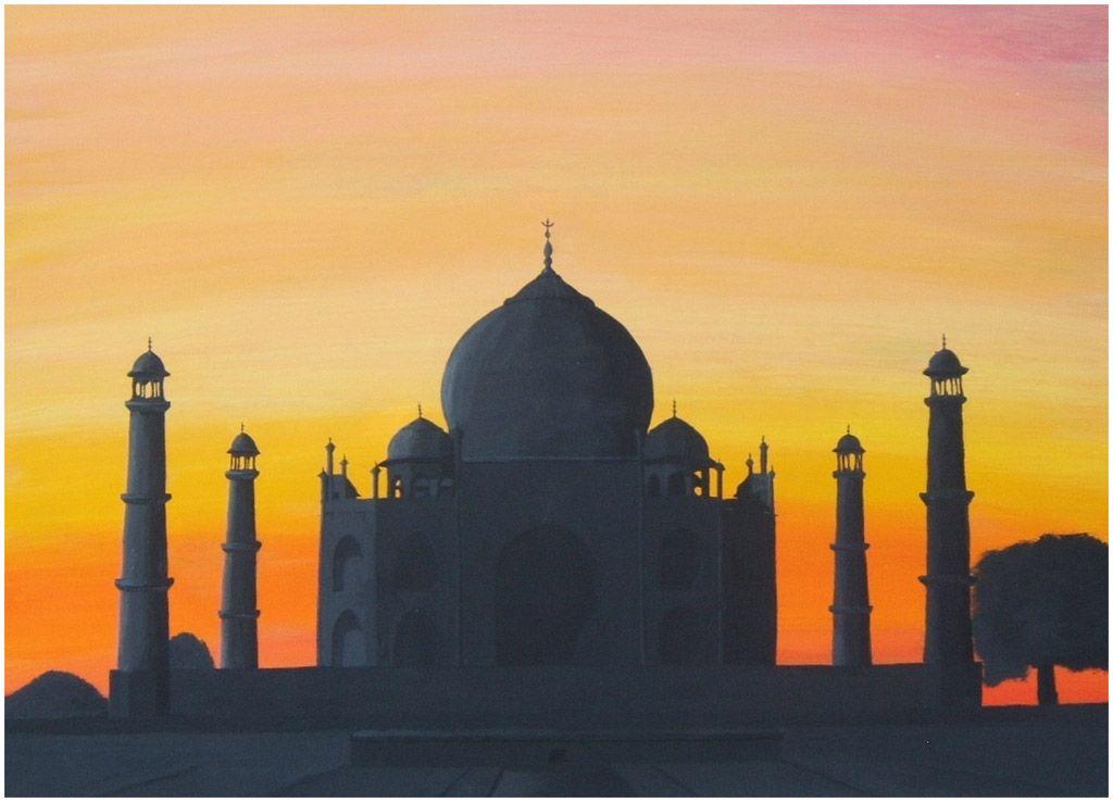 Taj Mahal at Sunset by *lilmisscoolio | India | Pinterest | Taj ...