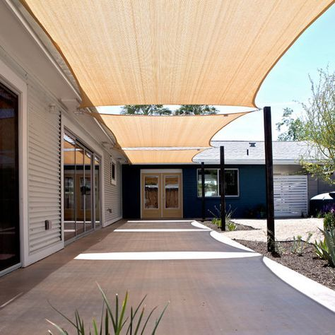Shade Sail Design Ideas garden Pinterest
