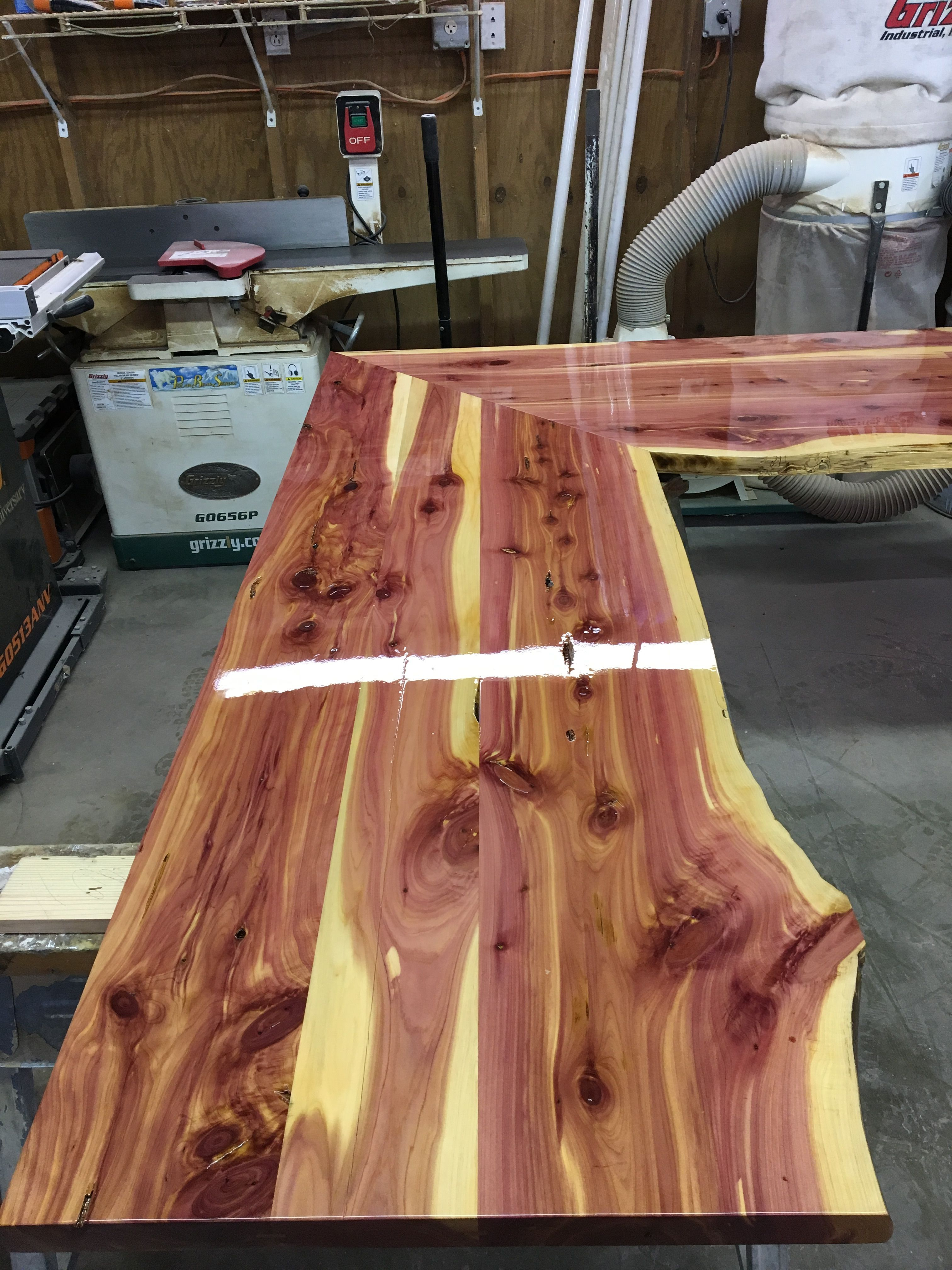 Cedar Countertops Cedarwoodworkingprojects Outdoor Kitchen Countertops Countertops Cedar Woodworking Projects