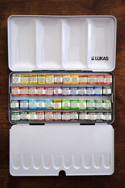 My New Set Of Watercolor Paints Lukas Aquarell 1862 48 Half Pan