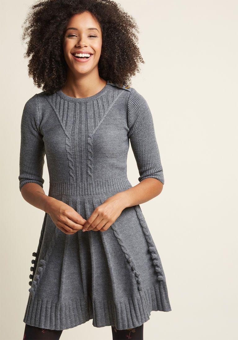 579bed1fdd0 Warm Cider Sweater Dress in Ash