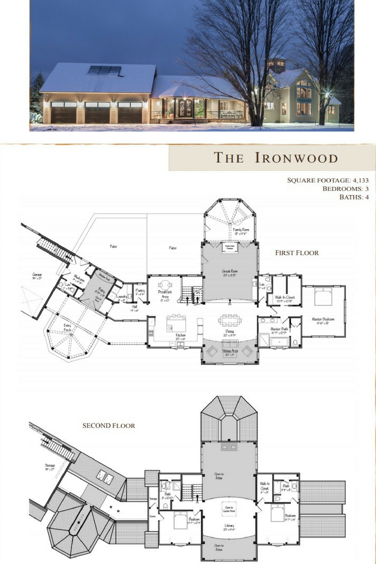 Ironwood Barn Homes Floor Plans Barn House Plans Lake House