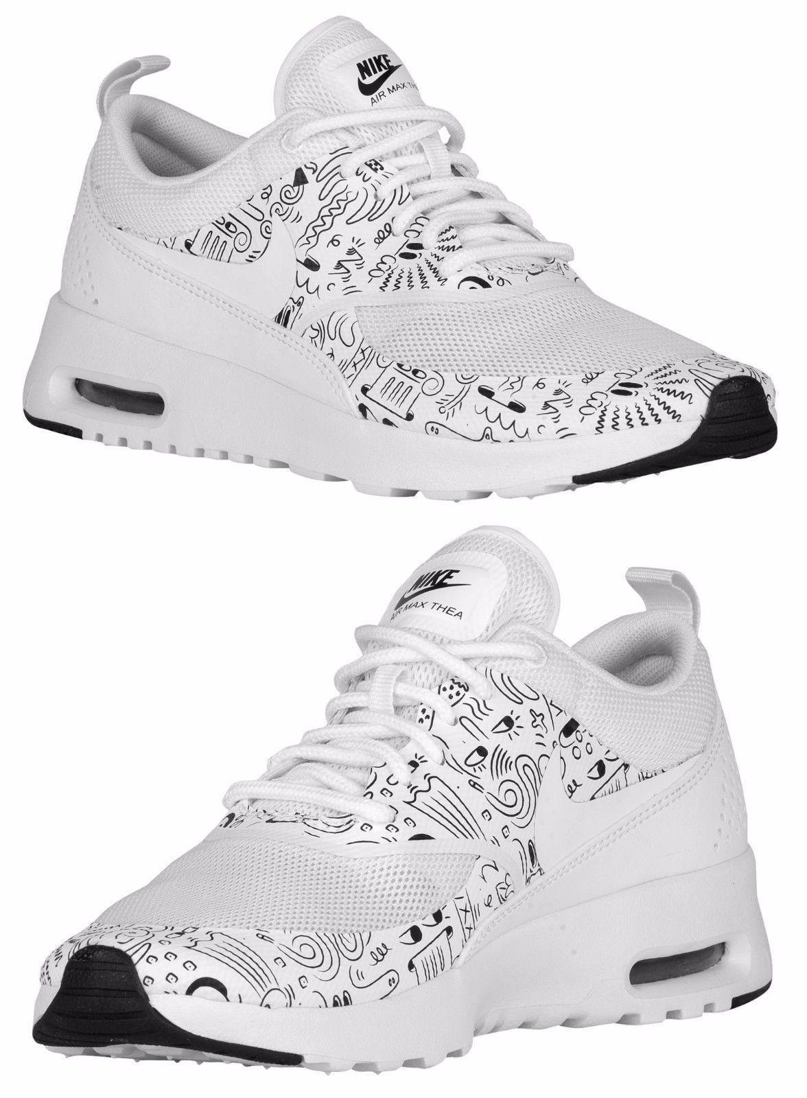 Nike Air Max Thea Print Women'S Running Mesh White Black