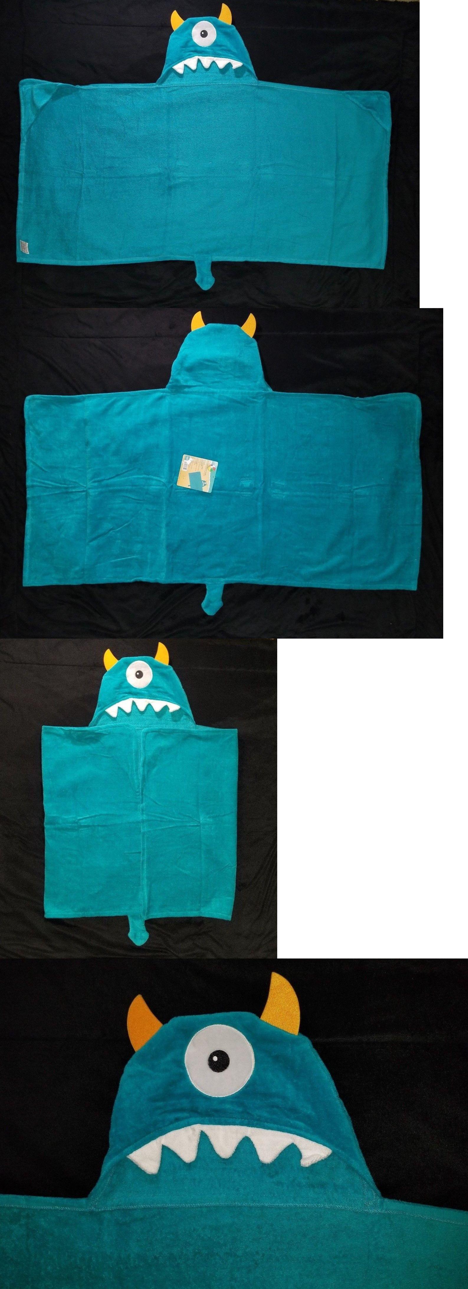 Bath 115624 kids one eyed monster hooded beach towel 24