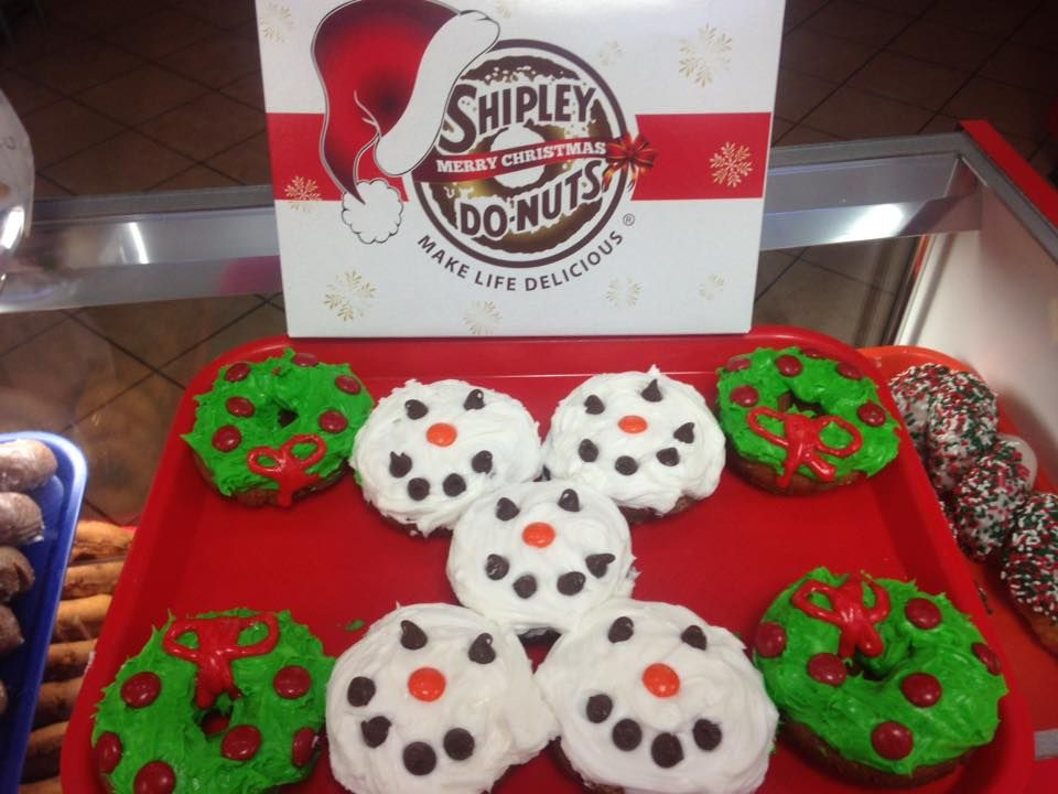 Merry Christmas! Come by for special donuts and Christmas themed donut boxes while supplies last.