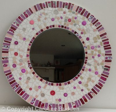 Round On Mirror Mosaic Tile Ons