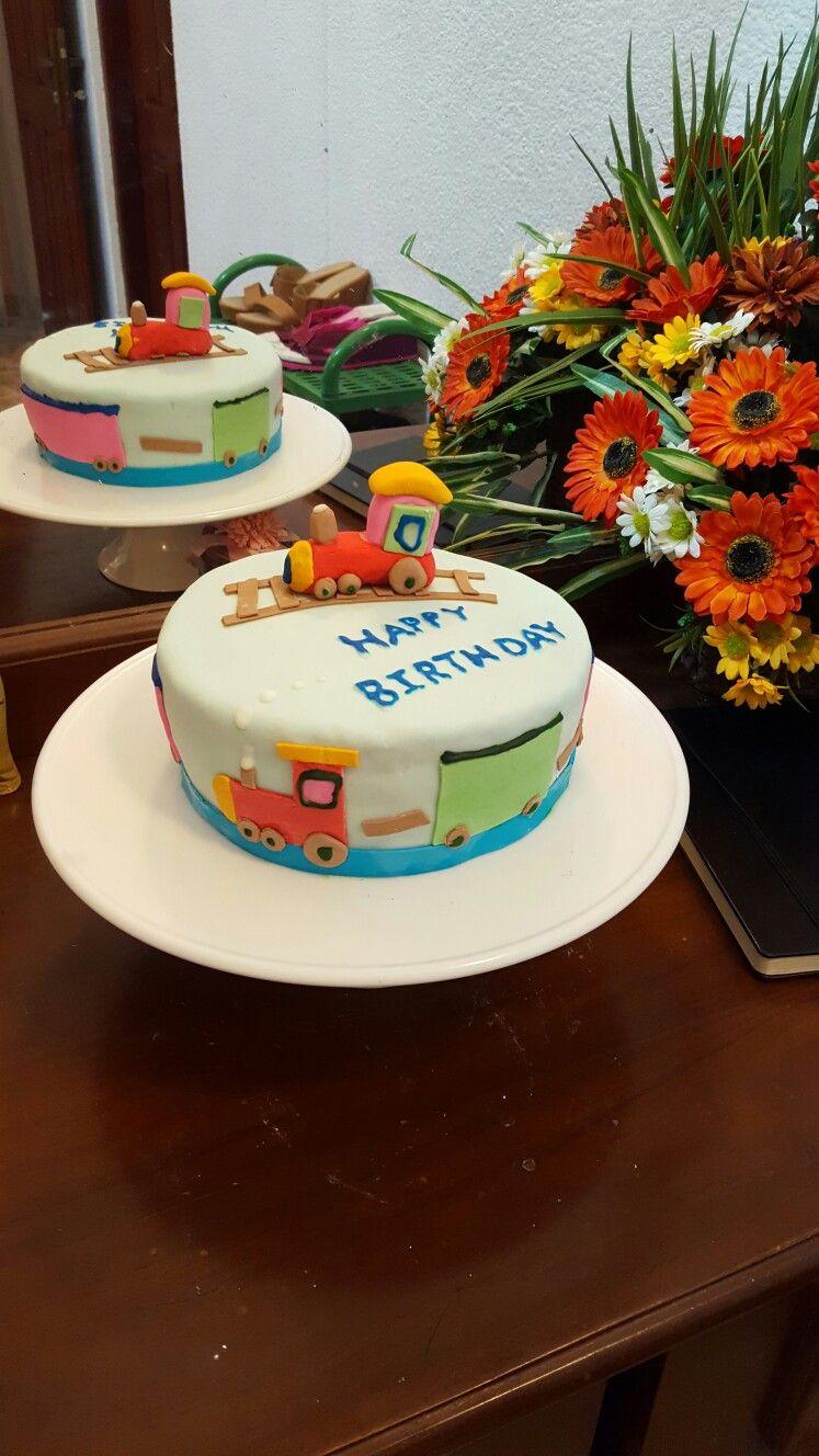 Cute train boy birthday cake by haji hajara Icing Pinterest