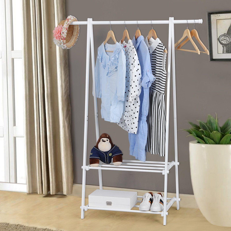 Songmics perchero de hierro zapatero estanter a para ropa for Perchero de ropa