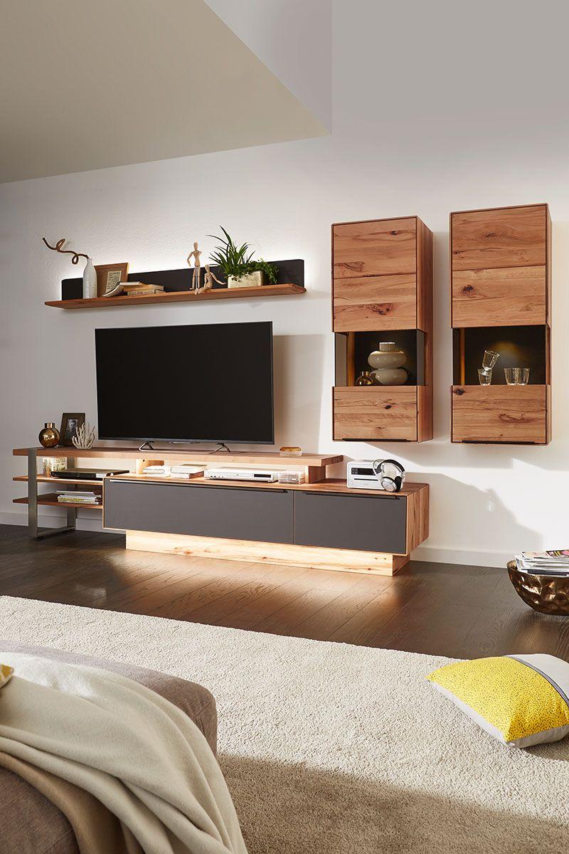 Wohnwand Buche Massiv Valnatura Online Bestellen In 2020 Wohnwand Braun Wohnzimmer Modern Einrichten Und Wohnen Wohnzimmer