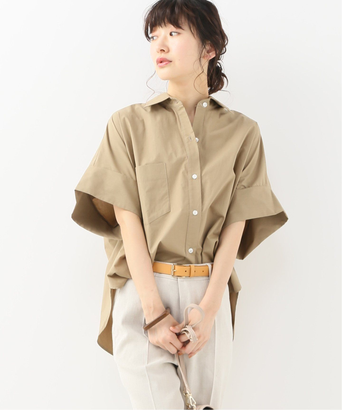 secular short sleeve button up shirt spick and span スピック スパン 公式のファッション通販 19050210000310 baycrew s store ファッション ファッション通販 ポプリン