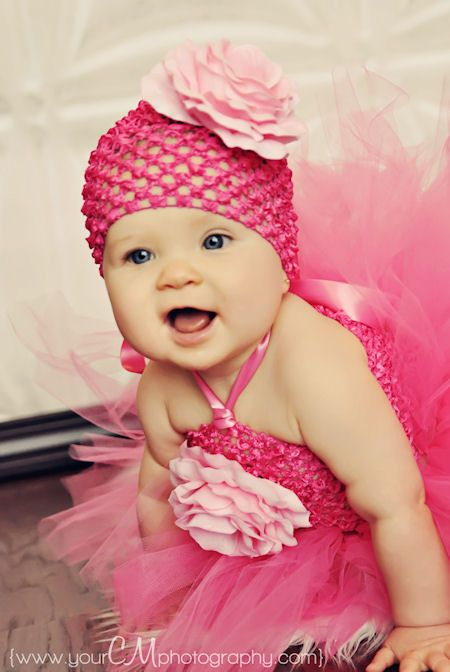 16d69d91f20 Layla Grace Hot Pink Silk French Rose Baby Crochet Hat