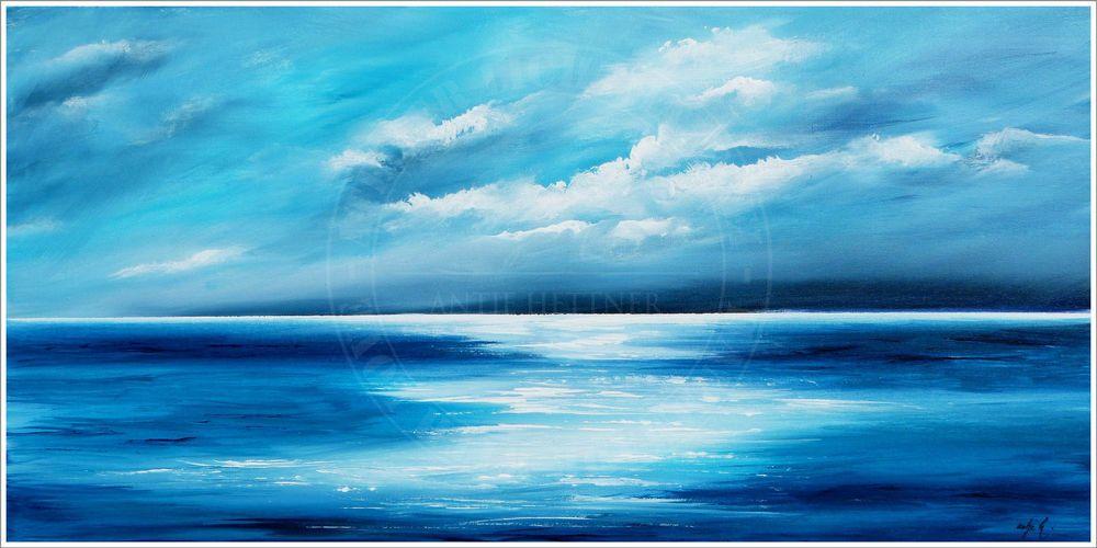antje hettner bild original kunst gem lde leinwand malerei abstrakt meer acryl ocean sea and. Black Bedroom Furniture Sets. Home Design Ideas