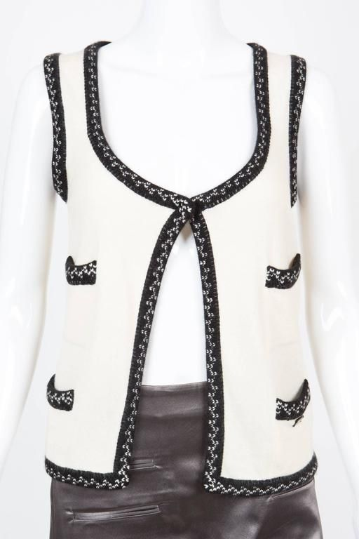 Off White Chanel Cashmere Gilet 1975-99