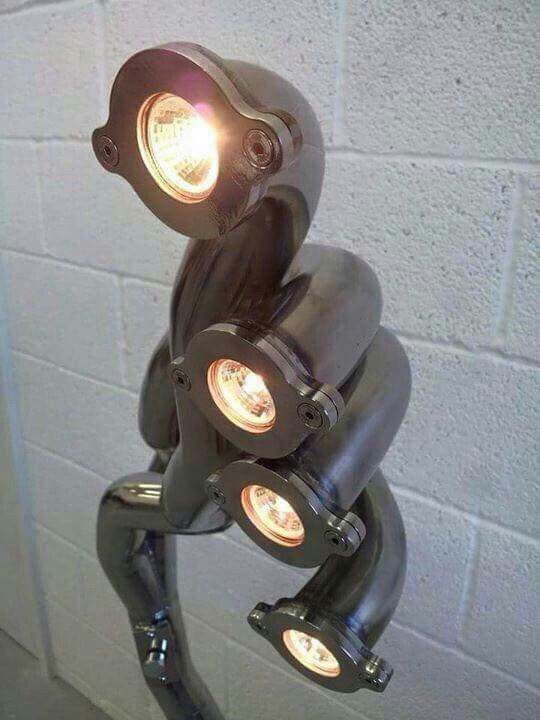 Floor Lamp Made From Header Stuff Made With Car Parts
