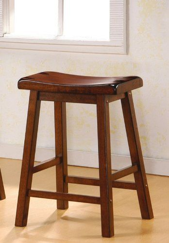 24 Inch Bar Stool Set Of 2 In Dark Walnut Coaster Bathroom