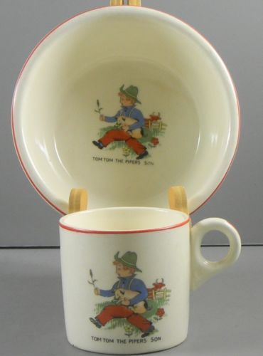 Children's Dishes Vintage Nursery Mug Tiny Tom Tom The Pipers Son Pottery & China