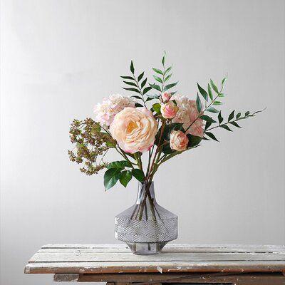 Rosdorf Park Mixed Floral Arrangements And Centerpieces In Vase Flower Vase Arrangements Faux Flower Bouquets Flower Arrangements