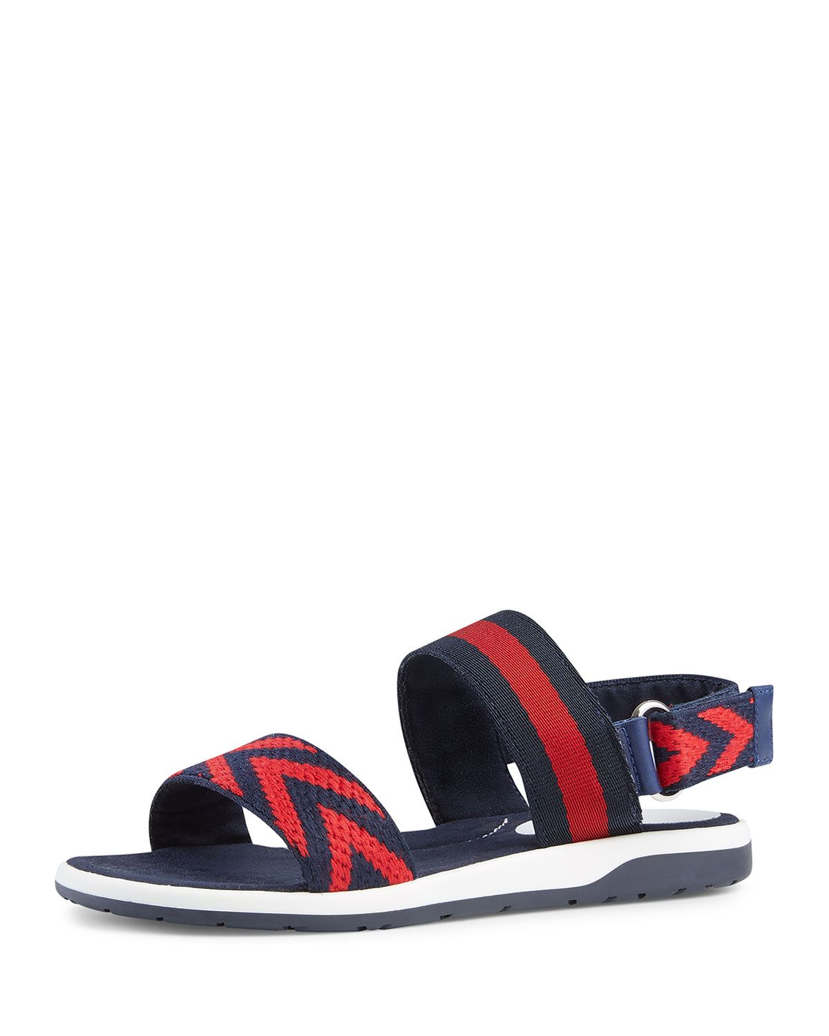 8705cc2a3 GUCCI CHEVRON LEATHER SANDAL, BLUE/RED, YOUTH. #gucci #shoes ...