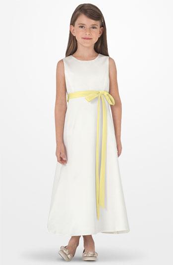 Us angels dress yellow white