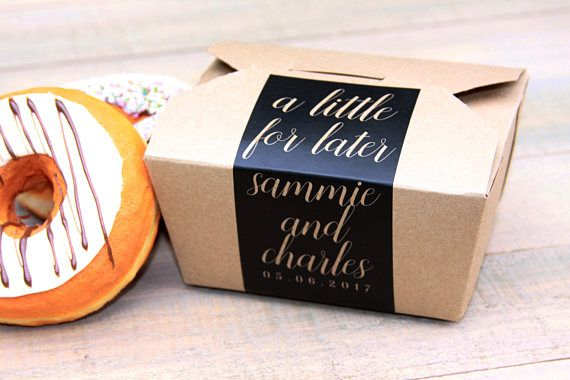 Favor Box Cake Cookie Doughnut