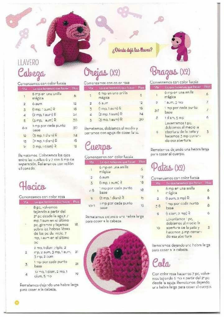 Llavero   Revista amigurumi   Pinterest   Llaveros y Revistas
