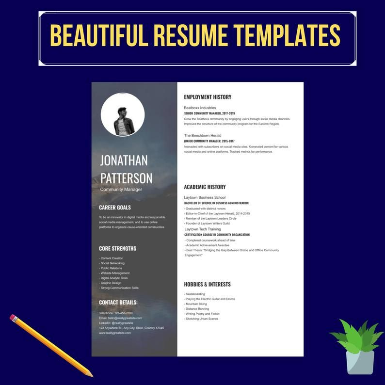 perform eye catching CV resume design with cover letter in