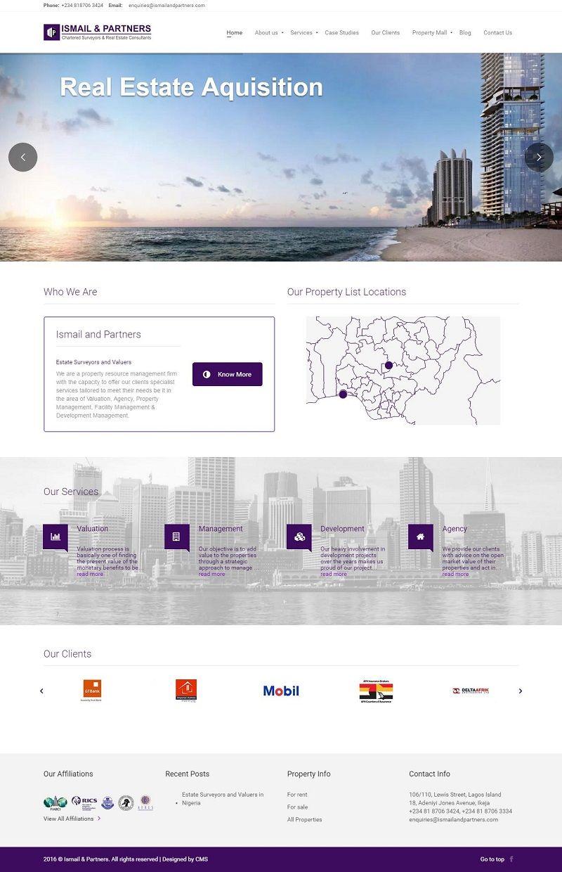 Ismail And Partners Website Design Contemporary Media Solutions Website Design Business Website Design Affordable Websites