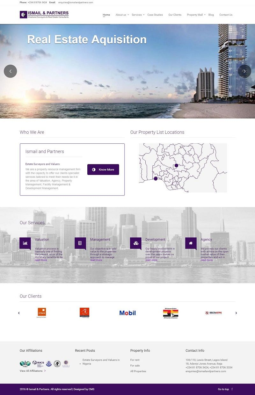 Ismail And Partners Website Design Website Design Business Website Design Management Development