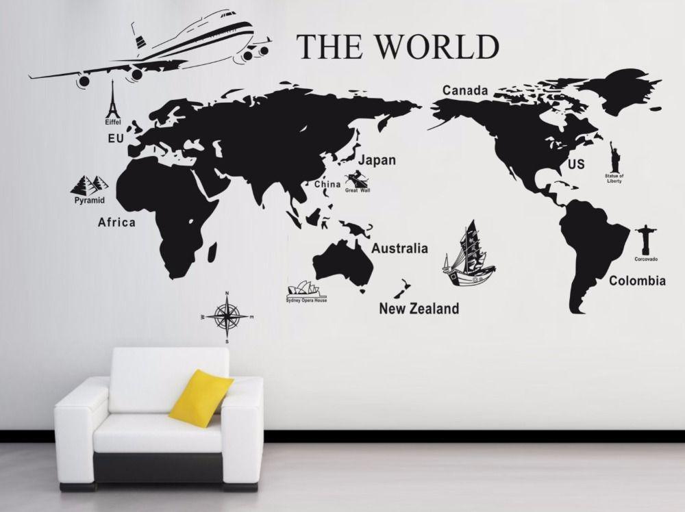 Comprar mapa del mundo tallada grande for Vinilo mapa del mundo