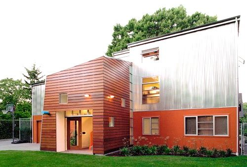 Love This Combo Of Metal Wood And Hardie Panel