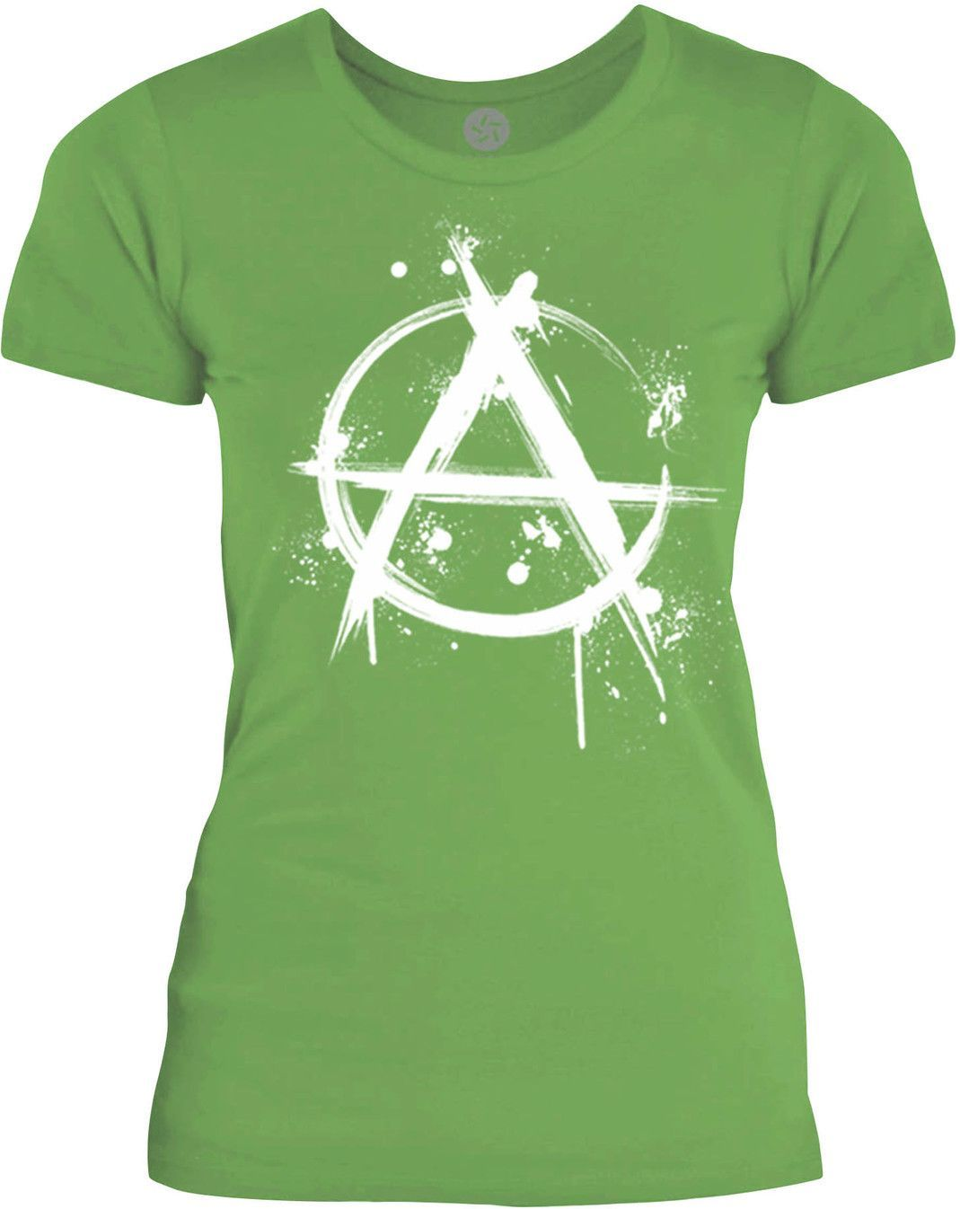 Big Texas Anarchy Graffiti (White) Womens Fine Jersey T-Shirt