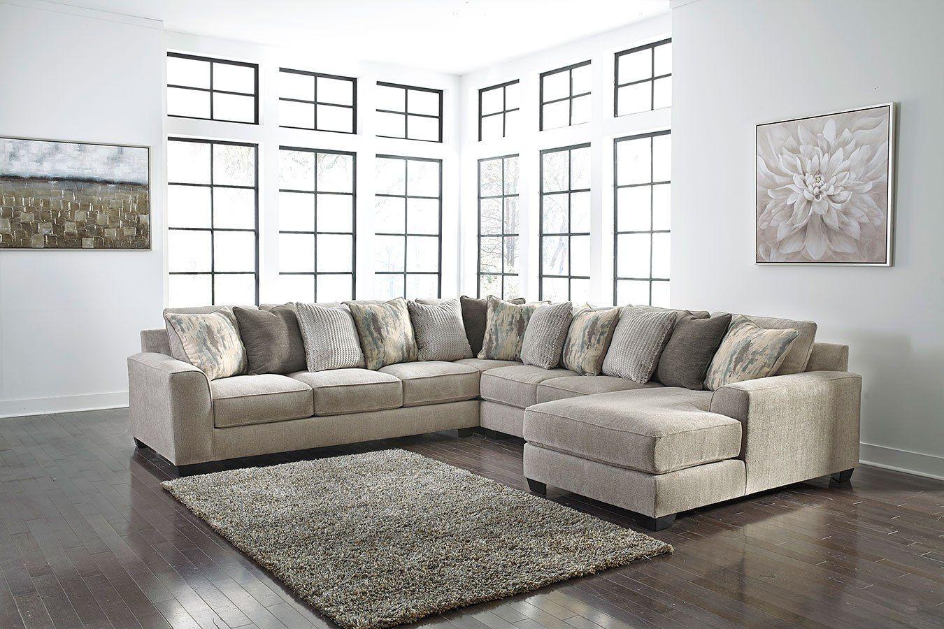 Ardsley Pewter Large Modular Sectional Ashley Furniture Living Room Living Room Sectional Beige Sectional Living Room