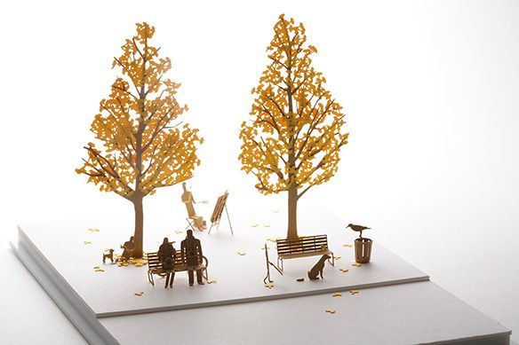1/100 SCALE ARCHITECTURAL MODEL ACCESSORIES SERIES No.24 Street Tree 2 Ginkgo