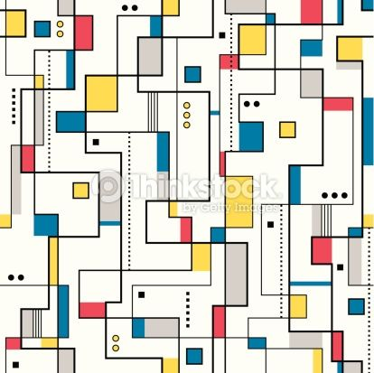 Arte vettoriale : yellow red and blue abstract pattern