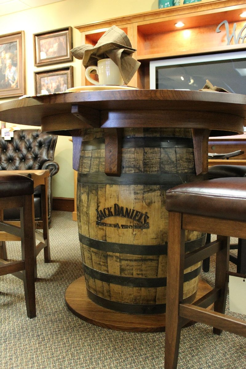 Whiskey Barrel Pub Table That Guy Jack In 2019 Wine