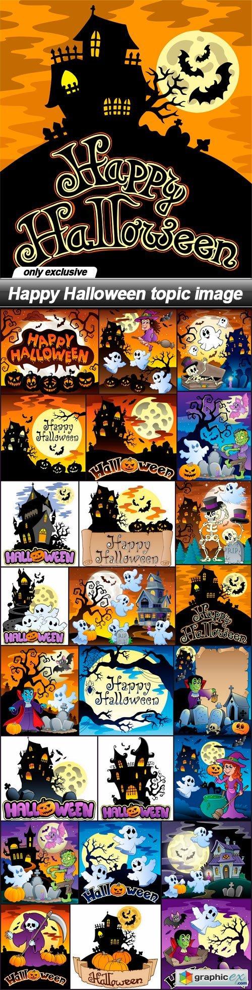 Happy Halloween topic image - 24 EPS